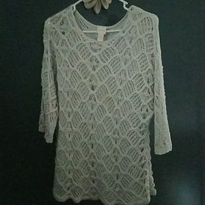 Lace vintage Chicos sweater